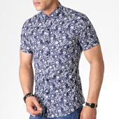 /achat-chemises-manches-courtes/mtx-chemise-manches-courtes-floral-dx2151-bleu-marine-blanc-184017.html