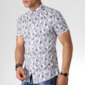 /achat-chemises-manches-courtes/mtx-chemise-manches-courtes-floral-dx2151-blanc-bleu-marine-184018.html
