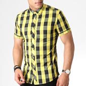 /achat-chemises-manches-courtes/mtx-chemise-manches-courtes-a-carreaux-dx2135-jaune-noir-184024.html