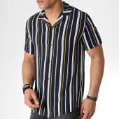 /achat-chemises-manches-courtes/mtx-chemise-manches-courtes-tm0138-noir-blanc-jaune-184064.html