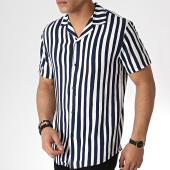 /achat-chemises-manches-courtes/mtx-chemise-manches-courtes-tm0142-blanc-bleu-marine-184066.html