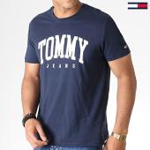 /achat-t-shirts/tommy-hilfiger-jeans-tee-shirt-6501-essential-logo-bleu-fonce-blanc-184160.html