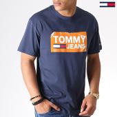 /achat-t-shirts/tommy-hilfiger-jeans-tee-shirt-6502-scratched-box-bleu-fonce-184163.html