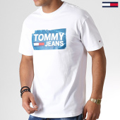 /achat-t-shirts/tommy-hilfiger-jeans-tee-shirt-6502-scratched-box-blanc-184164.html