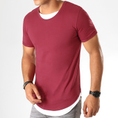 /achat-t-shirts-longs-oversize/lbo-tee-shirt-oversize-double-col-770-bordeaux-184240.html