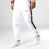 /achat-pantalons-joggings/wrung-pantalon-jogging-a-bandes-jay-blanc-jaune-noir-184219.html