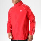 /achat-vestes/adidas-veste-zippee-capuche-a-bandes-ed6083-rouge-184336.html
