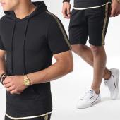 /achat-ensembles-survetement/ikao-ensemble-short-tee-shirt-capuche-a-bandes-f556-noir-dore-184378.html