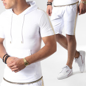 /achat-ensembles-survetement/ikao-ensemble-short-tee-shirt-capuche-a-bandes-f556-blanc-dore-184379.html
