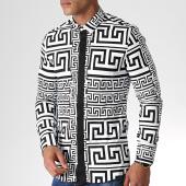 /achat-chemises-manches-longues/ikao-chemise-manches-longues-f490-blanc-noir-184383.html