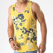 /achat-debardeurs/mtx-debardeur-floral-tm0204-jaune-moutarde-bleu-fonce-184470.html