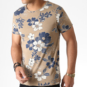 /achat-t-shirts/mtx-tee-shirt-floral-tm0203-marron-bleu-marine-184485.html