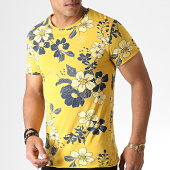 /achat-t-shirts/mtx-tee-shirt-floral-tm0203-jaune-moutarde-bleu-marine-184487.html
