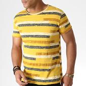 /achat-t-shirts/mtx-tee-shirt-a-rayures-tm0207-jaune-moutarde-marron-bleu-marine-184490.html