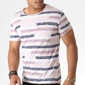 /achat-t-shirts/mtx-tee-shirt-a-rayures-tm0207-rose-pale-violet-bleu-marine-184491.html