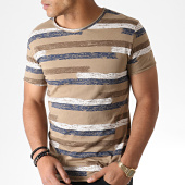 /achat-t-shirts/mtx-tee-shirt-a-rayures-tm0207-marron-blanc-bleu-marine-184492.html