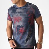 /achat-t-shirts/mtx-tee-shirt-floral-zt5062-bleu-marine-rouge-184547.html