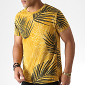 /achat-t-shirts/mtx-tee-shirt-floral-zt5056-jaune-moutarde-gris-anthracite-184568.html