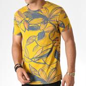 /achat-t-shirts/mtx-tee-shirt-floral-zt5059-jaune-moutarde-bleu-184583.html
