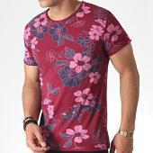 /achat-t-shirts/mtx-tee-shirt-tm0203-bordeaux-floral-184622.html