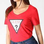/achat-t-shirts/guess-tee-shirt-col-v-femme-w93i91k19u1-rouge-184677.html