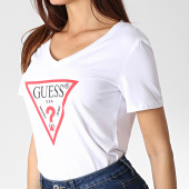 /achat-t-shirts/guess-tee-shirt-col-v-femme-w93i91k19u1-blanc-184678.html