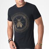 /achat-t-shirts/john-h-tee-shirt-a-strass-a041-noir-dore-184737.html