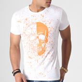 /achat-t-shirts/john-h-tee-shirt-a055-blanc-orange-fluo-184749.html
