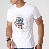 /achat-t-shirts/john-h-tee-shirt-a-strass-a047-blanc-dore-argente-184782.html