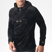 /achat-sweats-zippes-capuche/project-x-sweat-zippe-capuche-velours-et-strass-1920037-noir-dore-184790.html