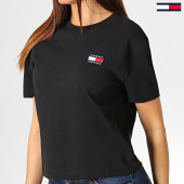 /achat-t-shirts/tommy-hilfiger-jeans-tee-shirt-femme-badge-6813-noir-184750.html