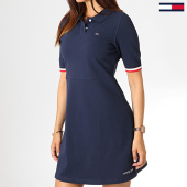 /achat-robes/tommy-hilfiger-jeans-robe-polo-femme-flare-6966-bleu-marine-184756.html