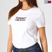 /achat-t-shirts/tommy-hilfiger-jeans-tee-shirt-femme-corp-logo-7029-blanc-184757.html
