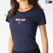 /achat-t-shirts/tommy-jeans-tee-shirt-femme-slim-modern-logo-7037-bleu-marine-184760.html