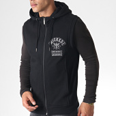 /achat-sweats-zippes-capuche/wicked-one-sweat-zippe-capuche-sans-manches-members-noir-blanc-184810.html