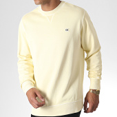 /achat-sweats-col-rond-crewneck/calvin-klein-jeans-sweat-crewneck-badge-2576-jaune-clair-184899.html