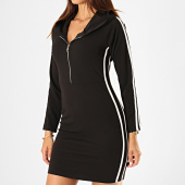 /achat-robes/girls-only-robe-capuche-femme-avec-bandes-50329-noir-blanc-184908.html