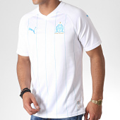 /achat-t-shirts/puma-maillot-de-football-om-home-replica-755673-blanc-bleu-clair-184864.html
