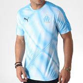 /achat-t-shirts/puma-tee-shirt-de-sport-om-stadium-755869-bleu-clair-184877.html