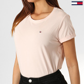 /achat-t-shirts/tommy-hilfiger-jeans-tee-shirt-femme-cn-1374-rose-pale-184918.html