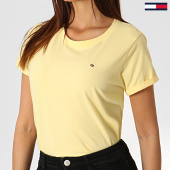 /achat-t-shirts/tommy-hilfiger-jeans-tee-shirt-femme-cn-1374-jaune-184919.html