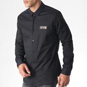 /achat-chemises-manches-longues/versace-jeans-chemise-manches-longues-uup201-slim-basic-print-logo-b1gua6s0-noir-dore-184847.html