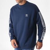/achat-sweats-col-rond-crewneck/adidas-sweat-crewneck-avec-bandes-lock-up-ed6122-bleu-marine-blanc-185021.html