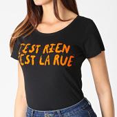 /achat-t-shirts/cest-rien-cest-la-rue-tee-shirt-femme-flock-noir-orange-185032.html