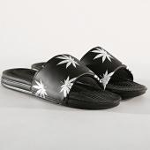 /achat-claquettes-sandales/huf-claquettes-plantlife-noir-blanc-185003.html