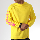 /achat-t-shirts-manches-longues/huf-tee-shirt-manches-longues-jungle-jaune-rose-gris-185007.html