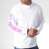 /achat-t-shirts-manches-longues/huf-tee-shirt-manches-longues-jungle-blanc-rose-gris-185008.html