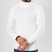 /achat-pulls/lbo-pull-col-roule-avec-empiecement-jum-14-blanc-185074.html