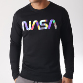 /achat-sweats-col-rond-crewneck/nasa-sweat-crewneck-iridescent-worm-logo-noir-185171.html