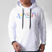 /achat-sweats-capuche/nasa-sweat-capuche-iridescent-worm-logo-blanc-185176.html